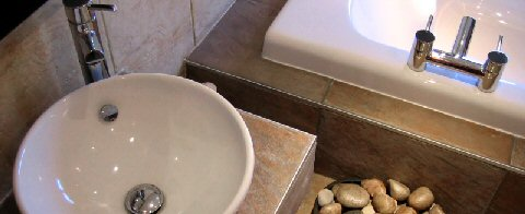 F Lowes Plumbing & Heating, Sunderland - Circular Washbasin in Modern Bathroom